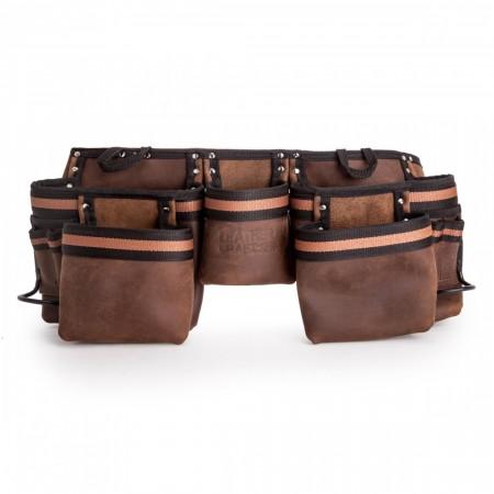 Leather Craft LC401 Arbeidsbelte med 5-oppbevaringslommer