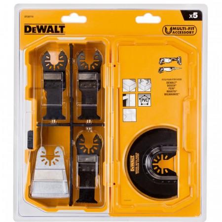 Dewalt DT20715 5-delers multikutter verktøy m/etui