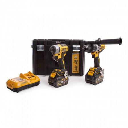 Dewalt DCK276T2T børsteløs 2-delers verktøy sett (2 x FLEXVOLT 6.0Ah Batterier) i T-STAK koffert