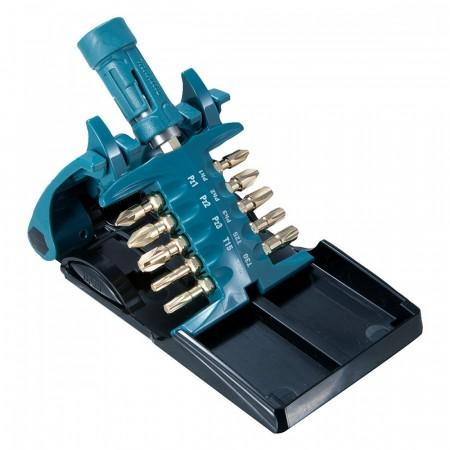 Makita B-28597 Impact Gold skrutrekker bitsett (11 deler) med Ultra Mag Torsion bitsholder