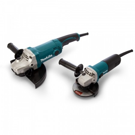 Makita DK0004 vinkelsliper Twinpack 240V - GA9050 230mm + 9554NB 115mm