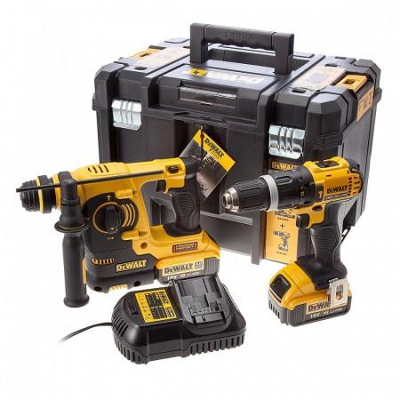 Dewalt DCK206M2T 18V DCD785 combi drill + DCH253 SDS+ slagdrill Twinpack (2 x 4Ah batt)