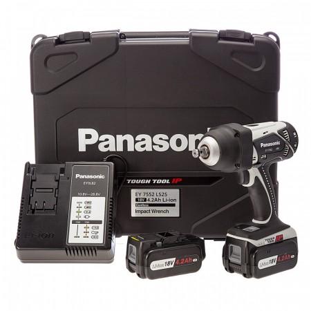Panasonic EY7552LJ2S 18V Heavy-Duty Muttertrekker (2 x 5,0Ah batterier)