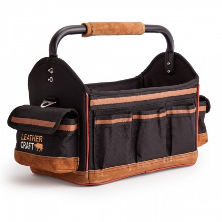 Leather Craft LC708 Åpen verktøybag (15 tommer)