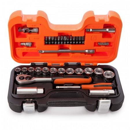 """Bahco S330L 53-deler pipe og mekanisk Set MM 1/4"""" og 3/8"""" størrelse"""