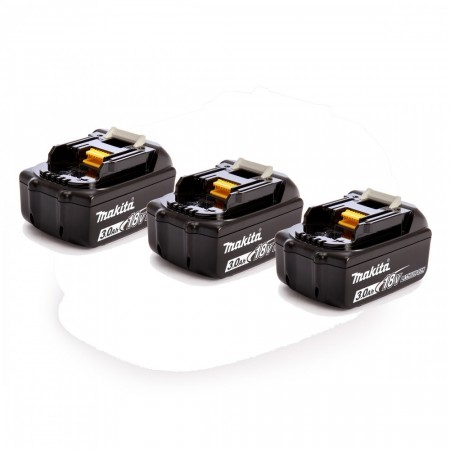 NYTT! Makita trippel pakke BL1830B 3Ah lithium batterier (3stk batterier)