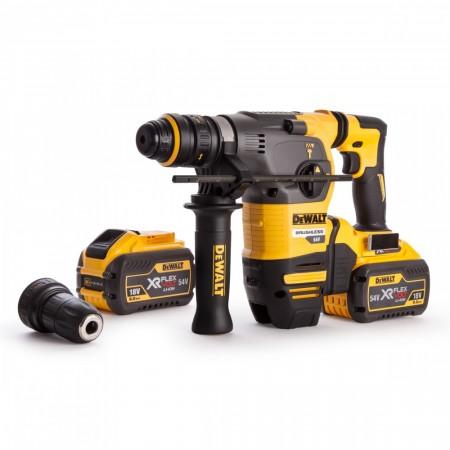 Dewalt DCH334X2 54V børsteløs XR FLEXVOLT SDS+ borhammer  (2 x 9 Ah batterier)