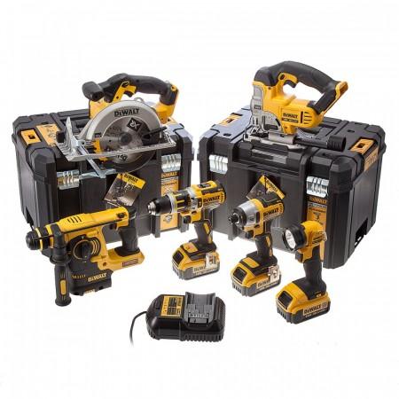 Nyhet! Dewalt DCK699M3T 18V 6-delers verktøysett (3 x 4Ah batterier) 2 x Tstak kofferter