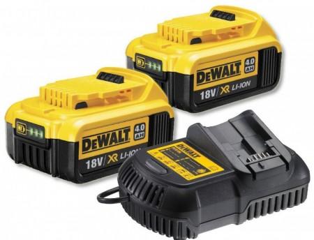 Sjekk prisen! Dewalt DCB105 hurtiglader og 2 x 4Ah DCB182 lithium batterier