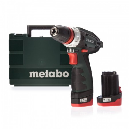 Metabo 10.8V PowerMaxx BS, 2 x 2.0Ah batterier