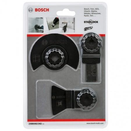 Bosch 2608662342 3-delers multikutter flisekutter sett(Starlock innfestning)