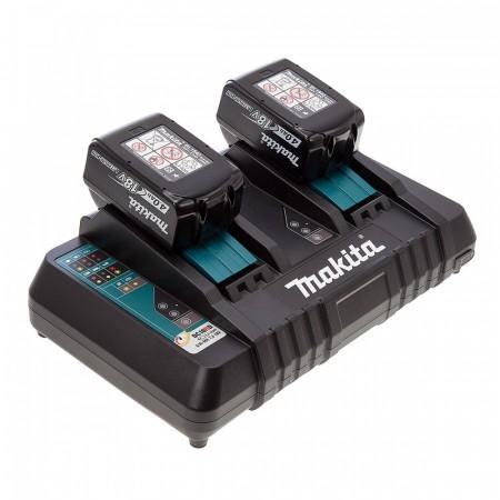 Sjekk prisen! Makita DC18RD Dobbel Port lader + 2 x BL1840B 18V 4.0Ah batterier
