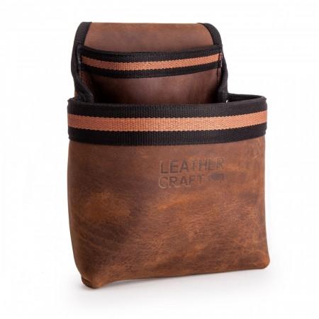 Leather Craft LC501 enkelt verktøyoppbevarings lomme i kratig lær