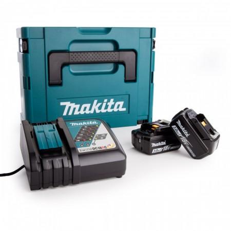 Makita 98C424 Makpac koffert 1 inkludert 2 x 3Ah batt + DC18RC hurtiglader