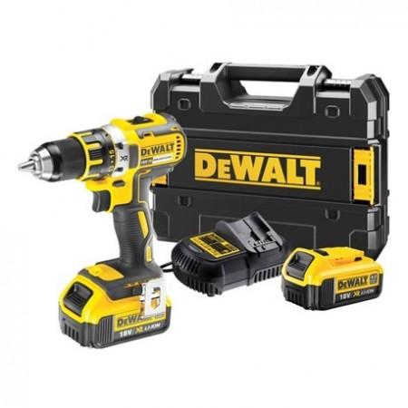 Anbefales! Dewalt DCD790M2 18V børsteløs drillsett (2 x 4Ah batter) med TSAK koffert