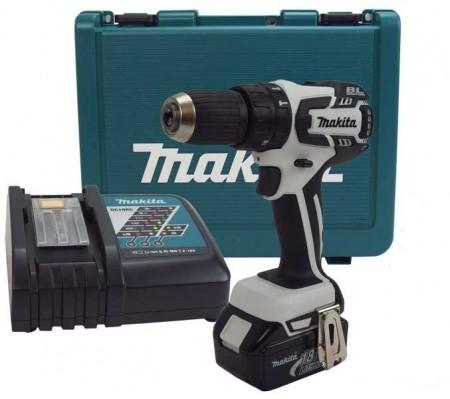Anbefales! Makita DHP459FRE 18V drillsettt (1x3Ah batt)