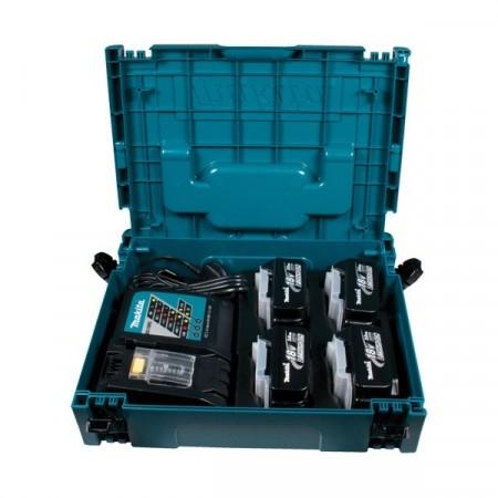 Makita 4 x BL1830 18V 3.0Ah batterier , DC18RC hurtiglader og koffert