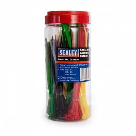 Sealey CT375 sorterte strips i forskjellige farger (375stk)