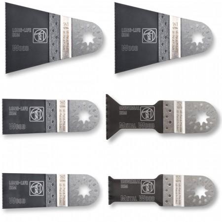 Fein 63502152150 E-Cut Blad sett for multiverkt�y - 6 Deler i plastboks
