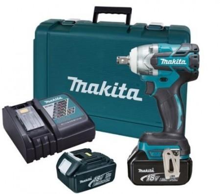Anbefales! Makita DTW281RFE 18V børsteløs muttertrekkersett (2 x 4Ah batterier)
