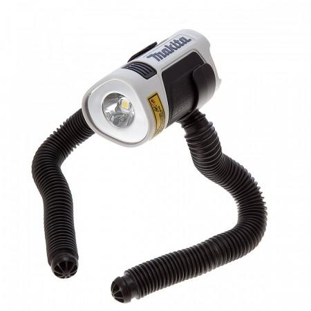 Makita ML101W Kompakt LED lommelykt 10.8V i hvitt med fleksible ben (kun kropp)