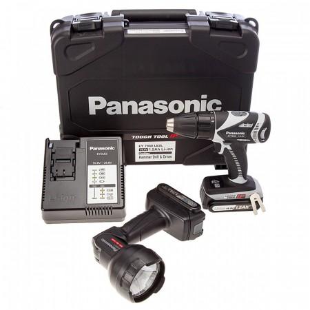 Sjekk prisen! Panasonic EY7940LE2L31 14.4V Combi drill med stavlykt  (2 x 1,5Ah batterier)