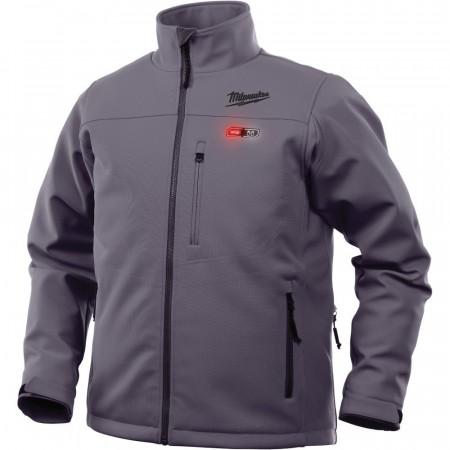Milwaukee M12 oppvarmet jakke (grå L)