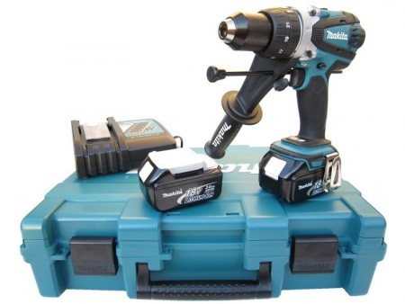 Kraftepakke! Makita DHP458RFE 18V drillsett (2x3Ah batt)