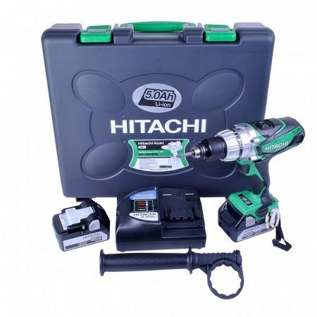 Sjekk prisen! Hitachi DV18DSDL/JJ 18V Combi Drill (2 x 5Ah batterier)
