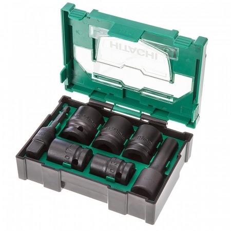 Hitachi 400.300.25 7-delers kraftpipe sett + adapter levert i praktisk etui