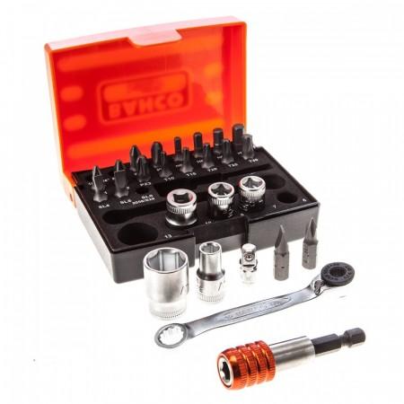 Bahco 2058/S26 26-delers pipe- og skrallesett