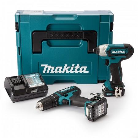 Makita CLX202AJ 2-delers 10.8V batteriverktøysett (2 x 2,0 Ah batterier)