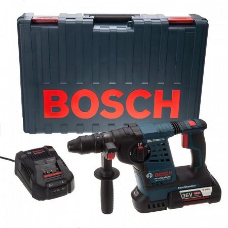 Bosch GBH36VFLI 36V li-ion SDS+ borhammer (1 x 4Ah batteri) med ekstra selvspennende chuck
