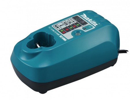 Makita DC10WA 7,2-10,8V batterilader for stikk Li-Ion-batterier