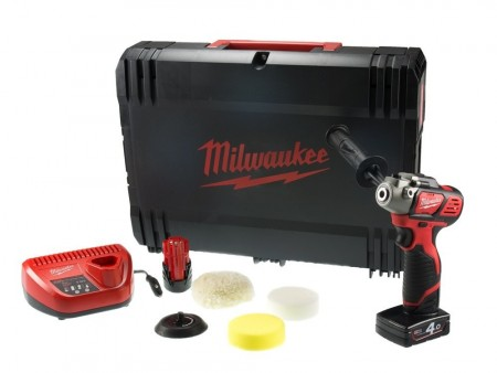 Milwaukee M12 BPS-421X 12V Polering- og slipemaskin sett ( 1x 2Ah, 1 x 4Ah)
