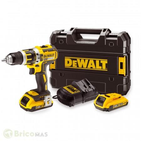Sjekk prisen! Dewalt DCD795D2 18V XR børsteløs combi drillsett (2 x 2Ah batterier)