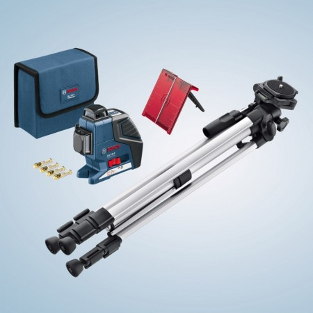 Bosch GLL3-80P 360 graders vertikal og horisontal linjelaser + BS150 Tripod stativ