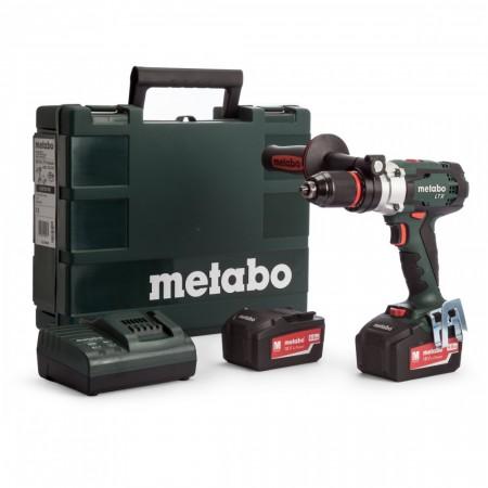 Metabo SB18LTX batteridrevet impuls Combi drillsett (2 x 4Ah Li-ion-batterier)