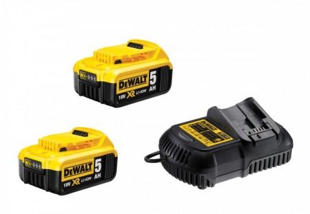 Dewalt DCB105P2 hurtiglader + 2 x 5Ah DCB184 lihtium batterier 18V
