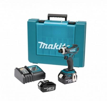 Makita DTD146RFE 18V slagtrekker sett (2x3Ah batt) m/koffert