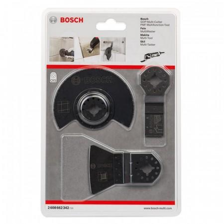Bosch 3-delers multiverktøysett(standard innfestning)