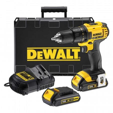 Sjekk prisen! Dewalt DCD780C2 18V XR drillsett (2x1,5Ah batt)