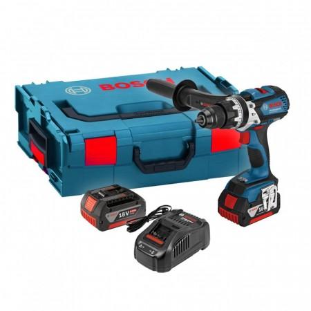 Sjekk prisen! Bosch GSR 18 VE-EC Professional børsteløs bor- og skrumaskin (2x5Ah batteri)
