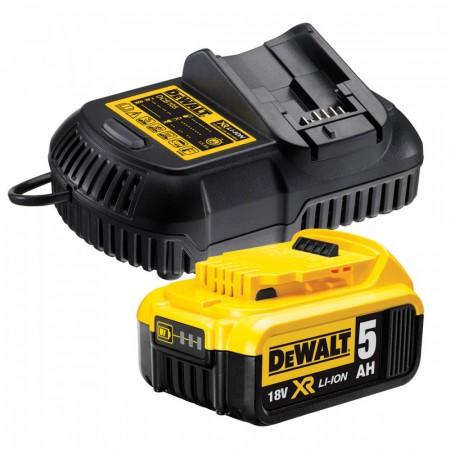 Dewalt DCB184 18V XR Li-ion 5.0Ah batteri med DCB105 hurtiglader