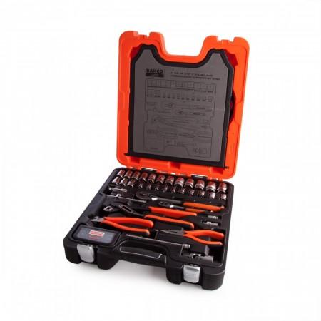 """Sjekk prisen! Bahco S81MIX 81-delers Pipe og tilbehør sett sett 1/2 og 1/4"""""""