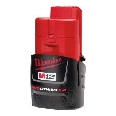 Milwaukee M12 B2 12V Lithium-Ion 2,0 Ah kompakt batteri