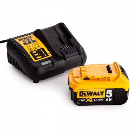 Dewalt DCB115 hurtiglader + DCB184 5.0Ah batteri