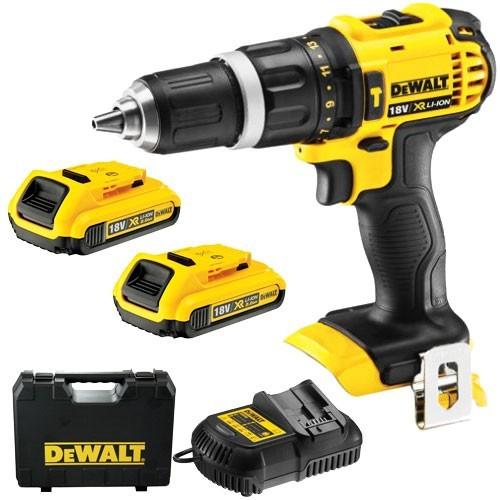 Sjekk prisen! Dewalt DCD785D2 18V combi drillsett (2 x 2Ah)
