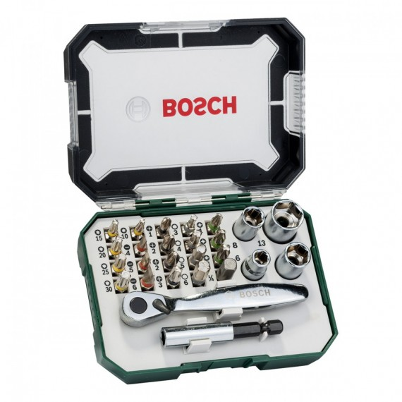 Bosch 2607017322 26-delers bits- og skrutrekkersett i praktisk etui