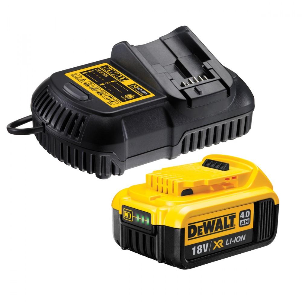Dewalt DCB182 18V XR Li-ion 4.0Ah batteri med DCB105 hutiglader | Prohandel AS